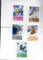 5 Cartes Intermarché - L´Age De Glace 11 - 20 - 24 - 31 - 33 - Disney