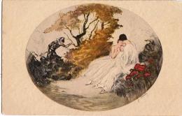 AK KÜNSTLERKARTE PAARE JUGEND ART DECO SIGNIERT : HARDY, ITALIEN GRAVUR Nr. 178 ANSICHTSKARTEN VOR 1904 FOTOGRAFIE GIPSY - Couples