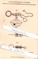 Original Patent - Johann Bartenbacher In Nürnberg , 1882 , Kreiselaufzüge , Sport , Spielzeug , Kreisel !!! - Antikspielzeug