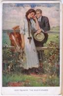 AK KÜNSTLERKARTE PAARE SIGNIERT :UNDERWOOD,ES STAND EIN RÖSLEIN AUF DER HEIDE,M.MUNK VIENNE Nr.834. ANSICHTSKARTEN 1915 - Couples