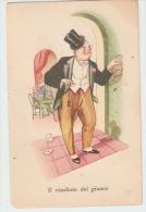 GALBIATI - HUMORISTIC / COMIC 1940s POSTCARD - POKER PLAYER - Illustrateurs & Photographes