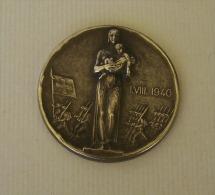 Médaille Bronze Suisse Militaire Du 1èr Aout 1940 Défilé De Troupes - Médailles & Décorations