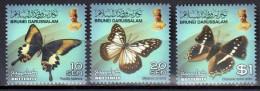Brunei 2013 Series II- Butterflies Mi 779-81 MNH (**) - Schmetterlinge