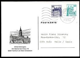 DOM FRANKFURT  Berlin PP81 B2/002 Privat-Postkarte Gelaufen Nach Halle 1986 - Iglesias Y Catedrales