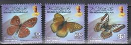 Brunei 2014 Series IV- Butterflies Mi 796-98 MNH (**) - Schmetterlinge