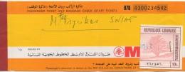Billet/Ticket D'Avion. MEA. Middle East Airlines. AirLiban. Beirut/Athens/Beirut. 16 DEC.1978. - Plane Ticket