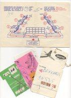 Sabena. Cartes D'accès à Bord, étiquette &  Document D'enregistrement. Lot De 4 Articles. - Instapkaart