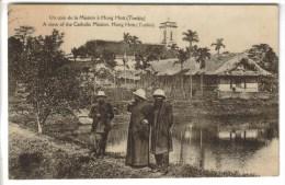 CPSM HUNG HOU (Viet Nam) - TONKIN : Un Coin De La Mission - Viêt-Nam