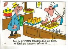 CPSM BON DE COMMANDE HUMOUR PATISSIER - Vous En Resteriez Baba Si Je Vous Disais Au Flan...ill. TIENNO - Humour
