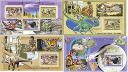 Deluxe Imperf Guinee 2006 Scouts Scouting Dinosaur Minerals S/S SET GU0609 - Famous People