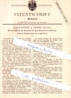 Original Patent - Ignaz Kowar In Amberg , Bayern , 1882 , Gewehr Mit Blockverschluß , Jagd , Waffe  !!! - Amberg