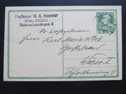 Postkarte GANZSACHE WIEN 1910  //  D*15770 - Briefe U. Dokumente