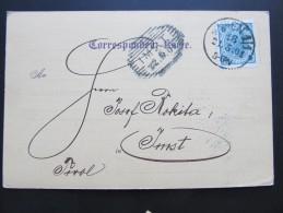 """Postkarte GANZSACHE WIEN """"Brevillier Schraubenfabrik"""" - Imst  //  D*15774 - Briefe U. Dokumente"""