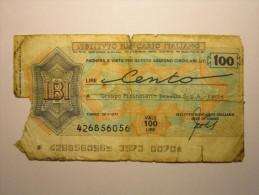 ITALY 100 L Istituto Bancario Italiano - [ 2] 1946-… : Republiek