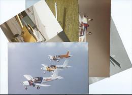 Avion Avions AVIATION De Tourisme  RALLYE - Lot De  5  PHOTOS Originales- Voir Scans R / V Des 5 Photos - Aviation