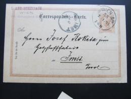 "Postkarte GANZSACHE Wien ""Fa.Steinbach"" Spengergasse - Imst 1894 //  D*15779 - Briefe U. Dokumente"