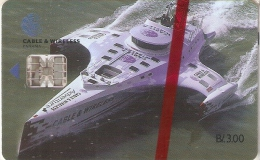 TARJETA DE PANAMA DE CABLE & WIRELESS DE B/3.00  (BARCO-SHIP) (NUEVA-MINT) - Panamá