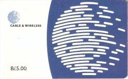 TARJETA DE PANAMA DE CABLE & WIRELESS DE B/.5.00 - Panama
