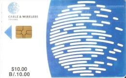 TARJETA DE PANAMA DE CABLE & WIRELESS DE $10 CHIP NEGRO (la De La Foto) - Panamá