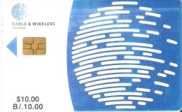 TARJETA DE PANAMA DE CABLE & WIRELESS DE $10 CHIP NEGRO (la De La Foto)