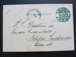Postkarte GANZSACHE KITZBÜHEL - Rohitsch Brauerei Gasthof Tiefenbrunner 1906 //  D*15783 - 1850-1918 Imperium