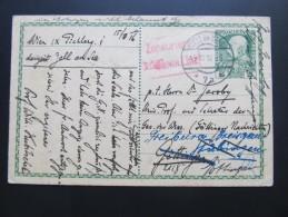 Postkarte GANZSACHE Zell Am See - Göttingen Zensur 1916 Wilhelm Kubitschek !  //  D*15788 - Briefe U. Dokumente