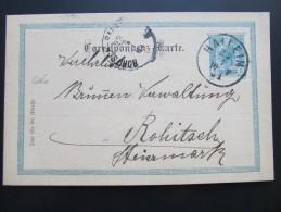 Postkarte GANZSACHE HALLEIN - Rohitsch Gasthof Z.Sch.Ausblick//  D*15789 - Briefe U. Dokumente