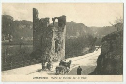 LUXEMBOURG - Ruines Sur Le Bock - Attelage - Luxembourg - Ville