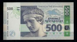"""GREECE 500 Units"", Entwurf, Beids. Druck, RRRR, UNC, Ca. 143 X 78 Mm, Essay, Trial - Griechenland"