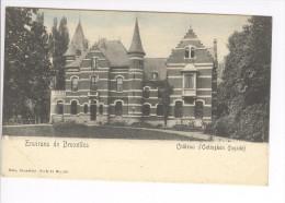CP Environs De Bruxelles. Château D'Oetinghen Oetingen Façade Légèrement Colorisé Vers 1905 Nels - Gooik