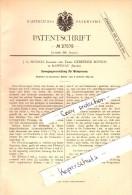 Original Patent - J.G. Botsch In Rappenau I. Baden , 1883 , Apparat Für Weinpressen , Wein , Weinbau !!! - Deutschland