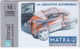 Prépayée Intercall PR180 Matra Automobile Neuve Sous Blister Non Grattée NSB 1000 Ex 30/09/1998 - France