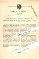 Original Patent - Gerhard Beiering In Hochfeld B. Dorsten I.W. , 1883 , Drahtseilbahn , Seilbahn !!! - Dorsten
