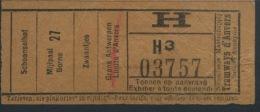TICKET TRAMWAYS D´ANVERS  / 1930 - Tram