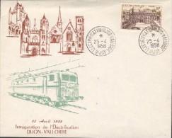 Inauguration De L'électrification Dijon-Vallorbe Le 25 Avril 1958 - Marcophilie (Lettres)