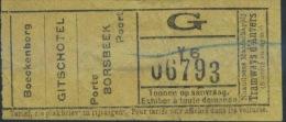 TICKET TRAMWAYS D´ANVERS  / 1930 (2) - Tram