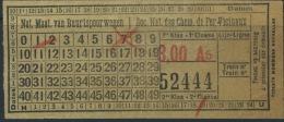TICKET SOC. NAT. DES CHEMINS DE FER VICINAUX   / 1930 (2) - Tram