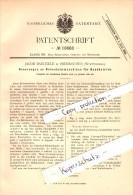 Original Patent - Jacob Baeuerle In Oberkochen , Württemberg , 1882 , Bohrmaschine Für Handbetrieb !!! - Deutschland