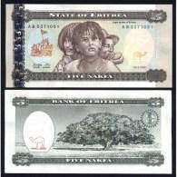 ERITREA : 5 Nakfa Del 1997  Pick 2   Fds  UNC - Erythrée