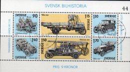 Auto-Industrie 1980 Schweden Block 8 O 3€ Petroleum-Autos Thulin Vabis Scania Volvo Hb History M/s Bloc Sheet Bf Sverige - Svezia