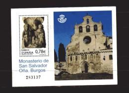 Spagna °2010 -x- BF.218 - Monasterio De San Salvador Ona Burgos. Used - Blocks & Kleinbögen