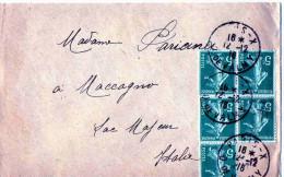 BUSTA POSTALE  SPEDITA DA PARIS-DE VALMY X MACCAGNO SUPERIORE-COMO-ITALIA - Covers & Documents