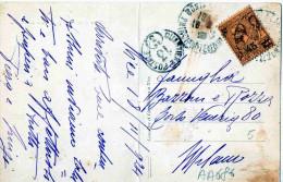 NICE-18-11-1924-PRINCIPATO DI MONACO X MILANO - Storia Postale