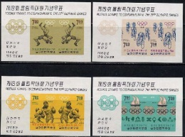 1968 South Korea Olympic Games Stamps Souvenir Sheet(s/s)  Cycling Boxing Wrestling Basketball Volleyball - Summer 1968: Mexico City
