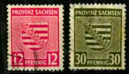 SaxeScott N°13N7.13N11 Oblitérés - Zone Soviétique