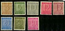 SaxeScott N°14N1.14N3.14N6.14N7.14N8.14N9.14N10.14N11. Neufs** - Zone Soviétique