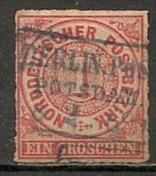 Timbres - Allemagne - Anciens Etats - Conf. De L'All. Du Nord - 1868 - 1 Groschen -
