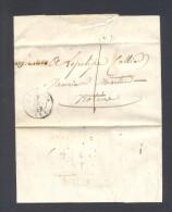 ALLIER 03 ARFEUILLES Cursive 25 Mm Tad LA PALISSE Du 17 Décembre 1850 Taxe 1 B/TB - Marcophilie (Lettres)