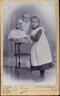 Foto Photo Op Karton Carton - Photographe Fotograaf - Ch. Pierre - Borgerhout -  2 Meisjes - Non Classés