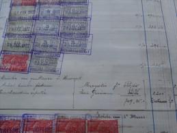 Livre De Taxes Des Ets Gres Cérames De Bourlers-document Unique Année 1926 à 1930- Nombreux Noms à étudier - Revenue Stamps